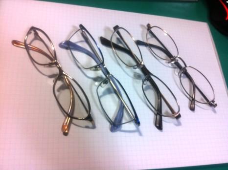 眼鏡の使い分け